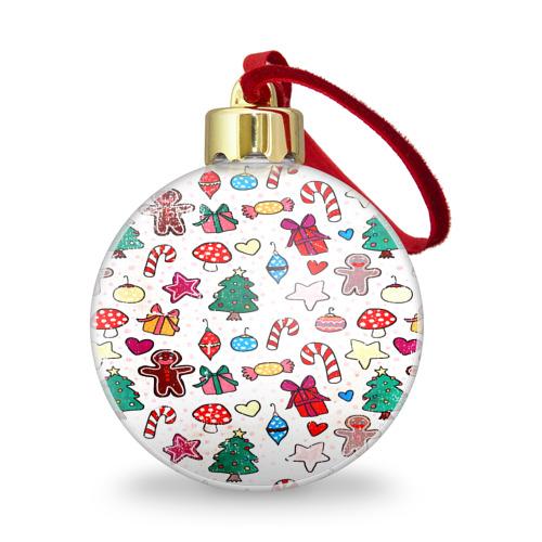Ёлочный шар с блестками  Фото 01, Рождество