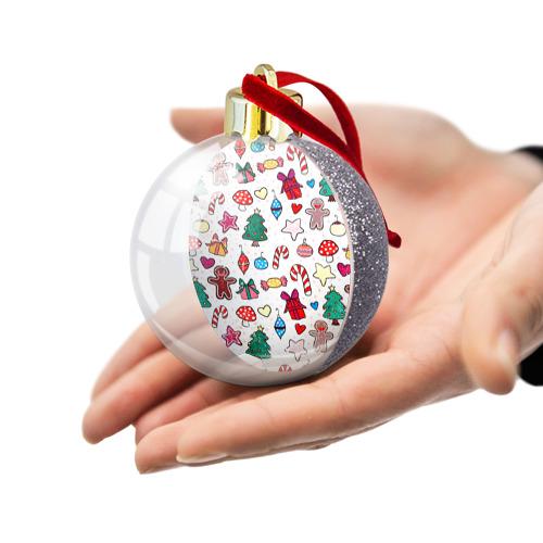 Ёлочный шар с блестками  Фото 03, Рождество