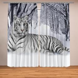Белый тигр в снегу