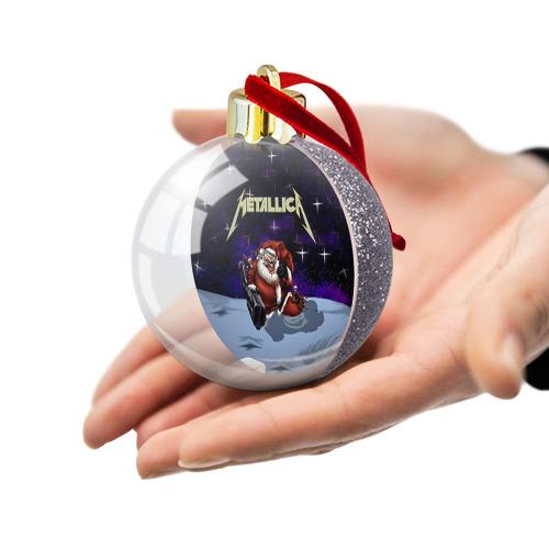 Ёлочный шар с блестками  Фото 03, Новогодний рок