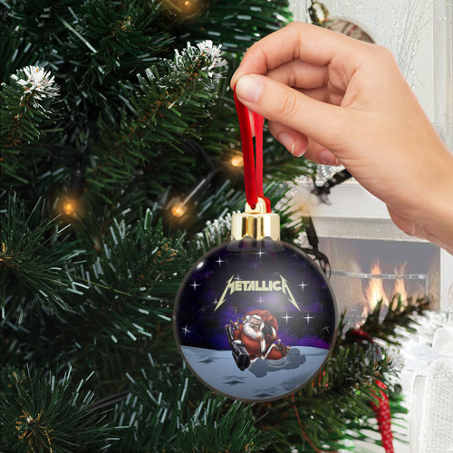 Ёлочный шар с блестками  Фото 04, Новогодний рок