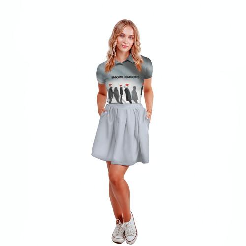 Женская рубашка поло 3D  Фото 04, Новогодний рок