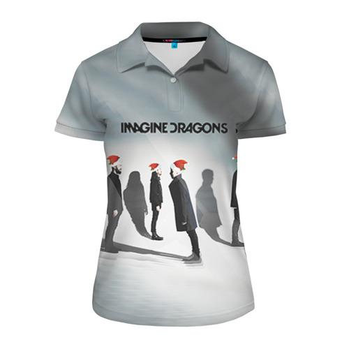 Женская рубашка поло 3D  Фото 01, Новогодний рок