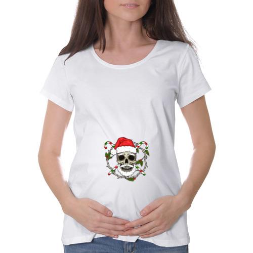 Футболка для беременных хлопок  Фото 01, Череп-санта