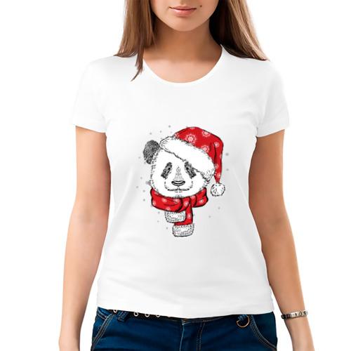 Женская футболка хлопок  Фото 03, Панда-санта
