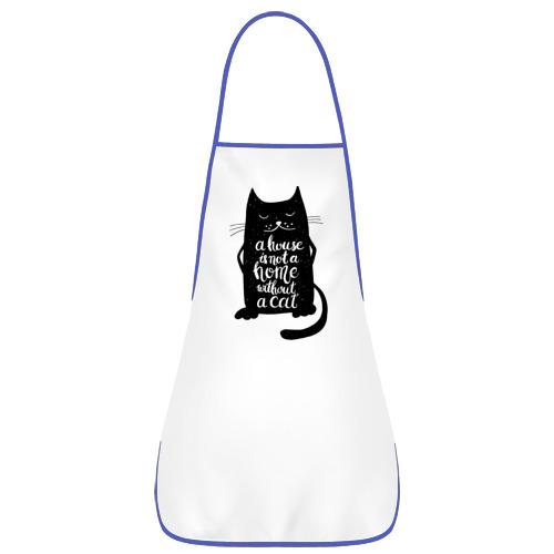 Фартук с кантом  Фото 01, Черный кот