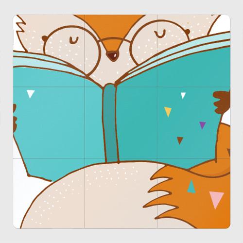 Магнитный плакат 3Х3 Лисица с книгой