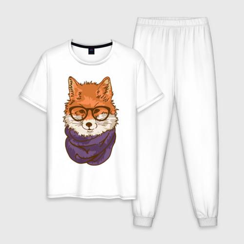 Мужская пижама хлопок Лисица Фото 01