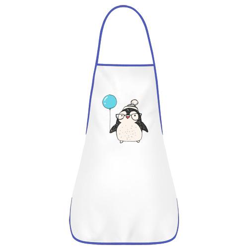 Фартук с кантом  Фото 01, Пингвин с шариком