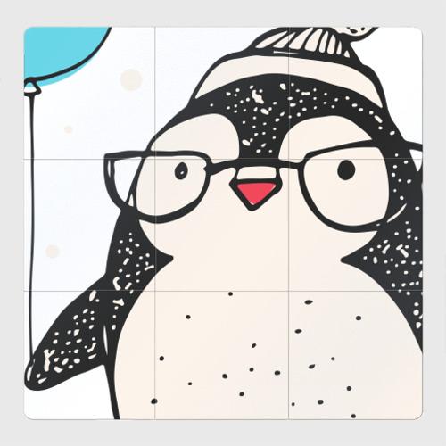 Магнитный плакат 3Х3 Пингвин с шариком