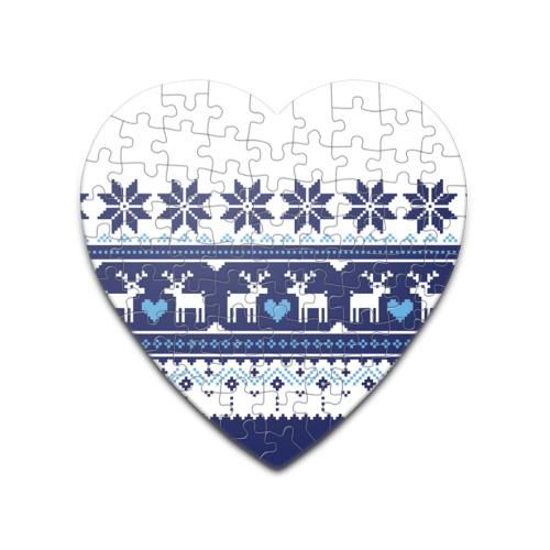 Пазл сердце 75 элементов  Фото 01, Скандинавские олени