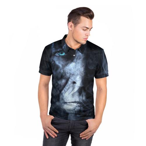 Мужская рубашка поло 3D  Фото 05, Дым