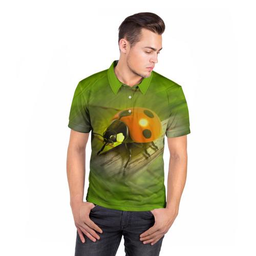 Мужская рубашка поло 3D  Фото 05, Божья коровка