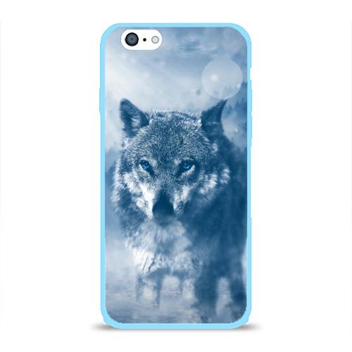 Чехол для Apple iPhone 6 силиконовый глянцевый Волк Фото 01