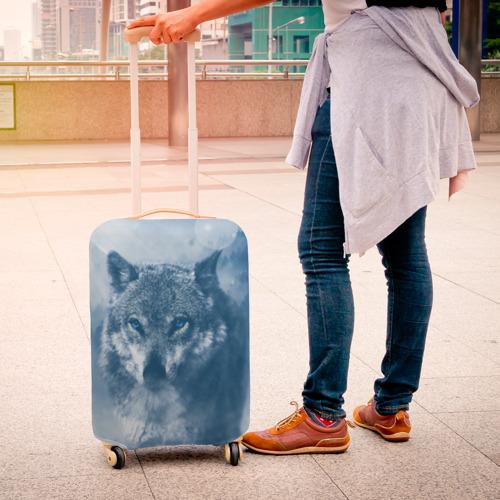 Чехол для чемодана 3D Волк Фото 01