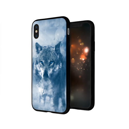 Чехол для Apple iPhone X силиконовый глянцевый Волк Фото 01