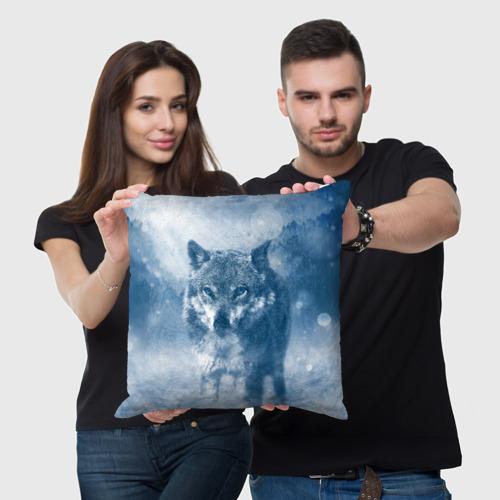 Подушка 3D Волк Фото 01