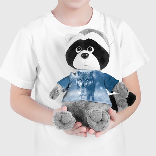 Енотик в футболке 3D Волк Фото 01