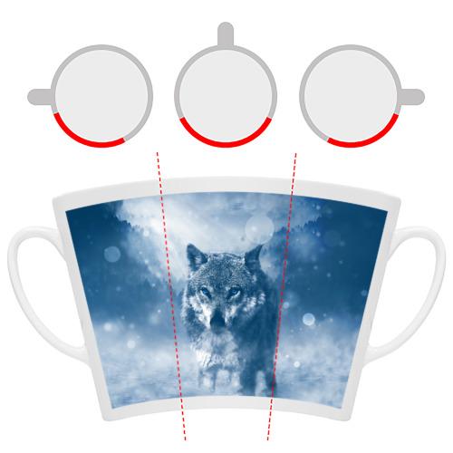 Кружка Латте  Фото 06, Волк