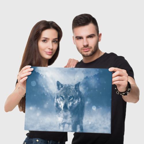 Холст прямоугольный Волк Фото 01