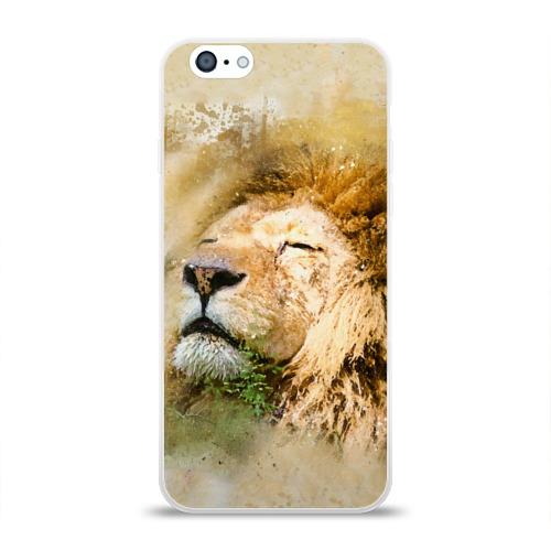 Чехол для Apple iPhone 6 силиконовый глянцевый Лев