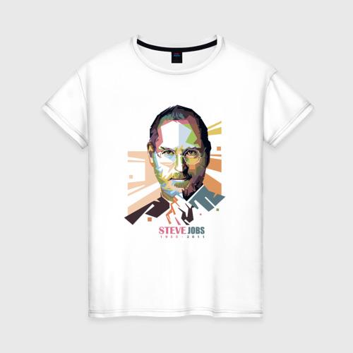 Женская футболка хлопок Стив Джобс