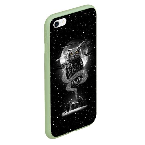 Чехол для iPhone 6Plus/6S Plus матовый Ночная сова Фото 01