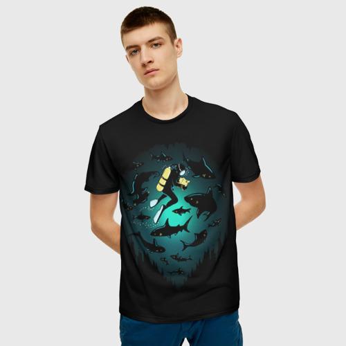 Мужская футболка 3D Подводный мир Фото 01