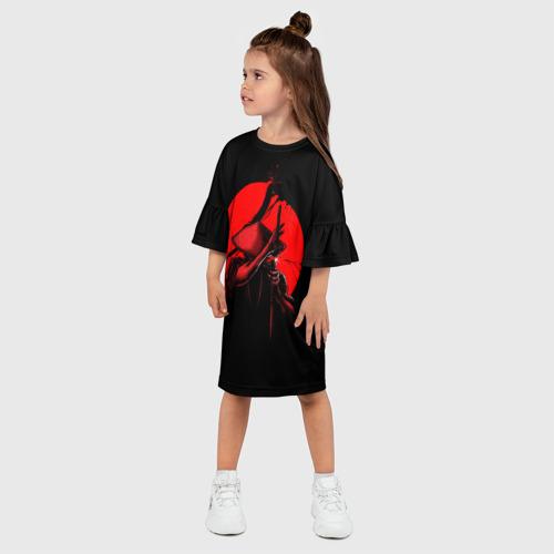 Детское платье 3D  Фото 03, Сила самурая