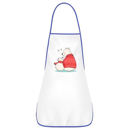 Фартук с кантом  Фото 01, Белые Мишки
