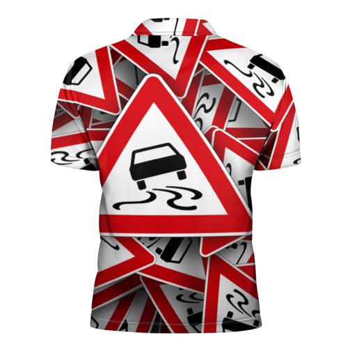 Мужская рубашка поло 3D  Фото 02, Дорожный знак 1