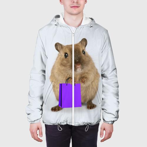 Мужская куртка 3D  Фото 04, Хомяк с сумкой