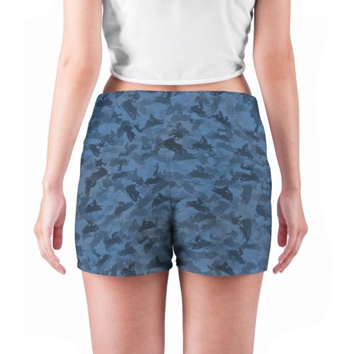 Женские шорты 3D  Фото 04, Камуфляж со снегоходами