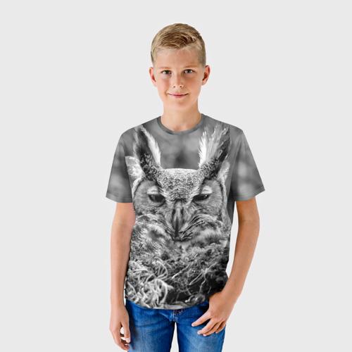 Детская футболка 3D Филин