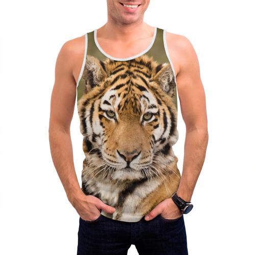 Мужская майка 3D  Фото 03, Тигр