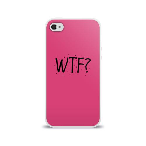 Чехол для Apple iPhone 4/4S силиконовый глянцевый  Фото 01, WTF?