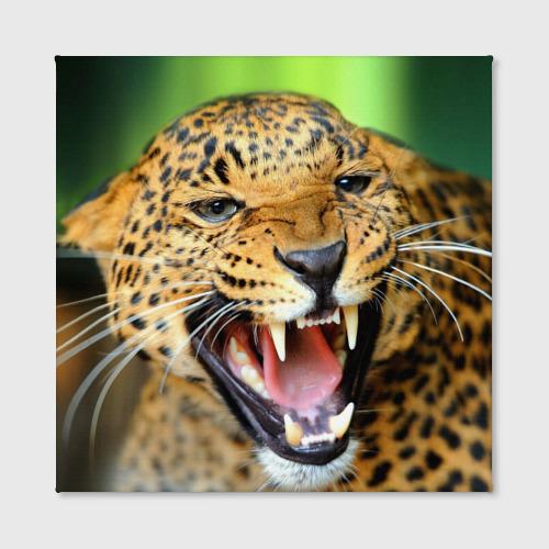 Холст квадратный  Фото 02, Леопард