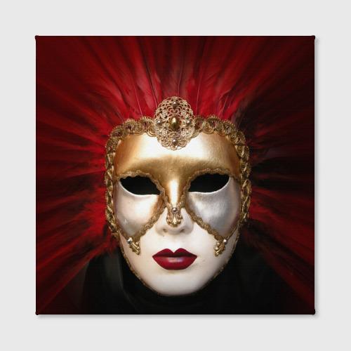 Холст квадратный  Фото 02, Венецианская маска