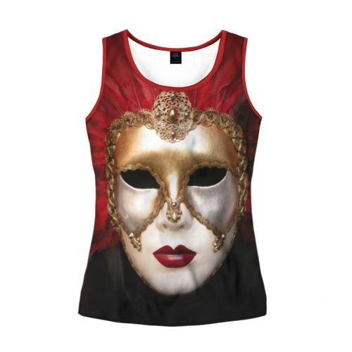 Женская майка 3D Венецианская маска
