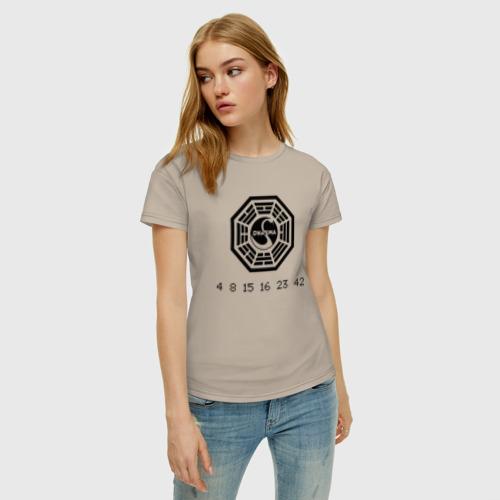 Женская футболка хлопок Дхарма Фото 01