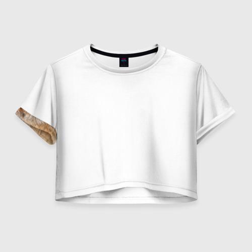 Женская футболка Crop-top 3D Лиса