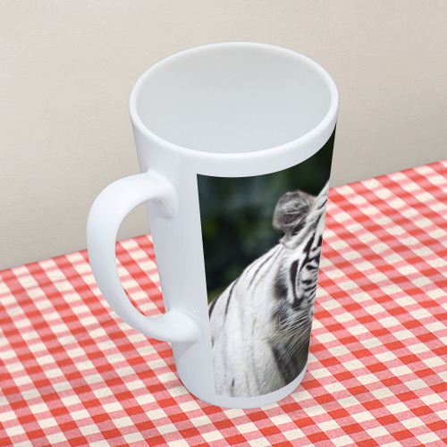 Кружка Латте Белый тигр Фото 01