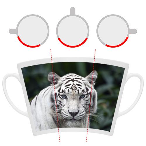 Кружка Латте  Фото 06, Белый тигр