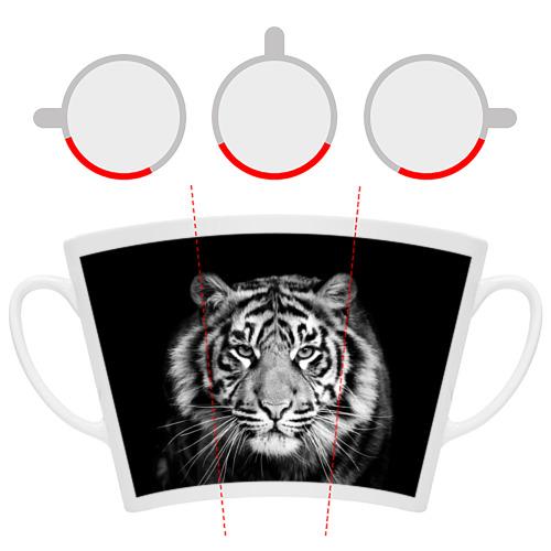Кружка Латте  Фото 06, Тигр