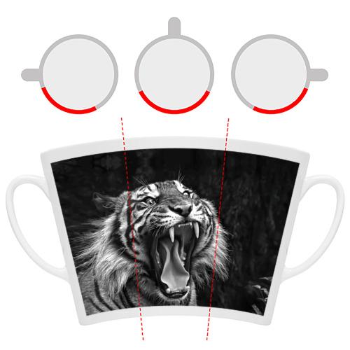 Кружка Латте Тигр Фото 01