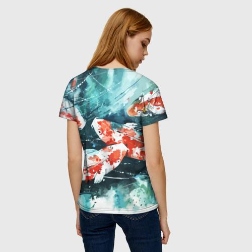 Женская футболка 3D Koi Fish (карпы кои) Фото 01