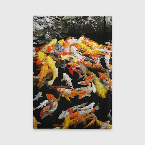 Обложка для автодокументов  Фото 02, Koi Fish (карпы кои)