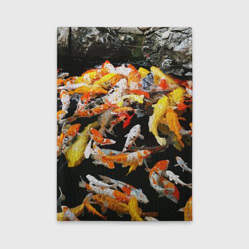 Обложка для автодокументов  Фото 01, Koi Fish (карпы кои)