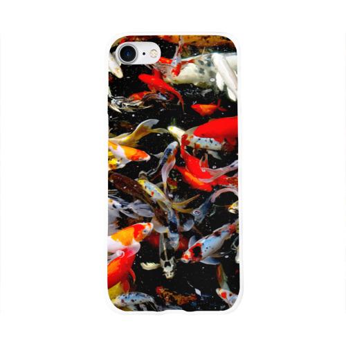 Чехол для Apple iPhone 8 силиконовый глянцевый  Фото 01, Koi Fish (карпы кои)