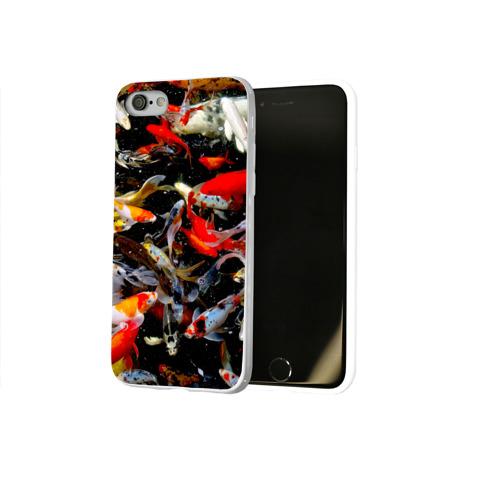 Чехол для Apple iPhone 8 силиконовый глянцевый  Фото 02, Koi Fish (карпы кои)